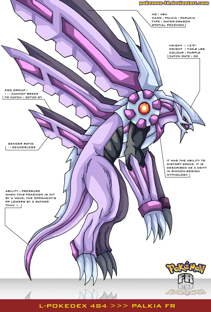 Dialga And Palkia Fusion L Pokedex 484 - Palkia FR by