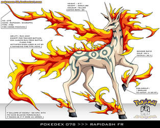 Pokedex 078 - Rapidash FR by frbrothers86