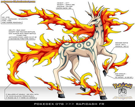 Pokedex 078 - Rapidash FR