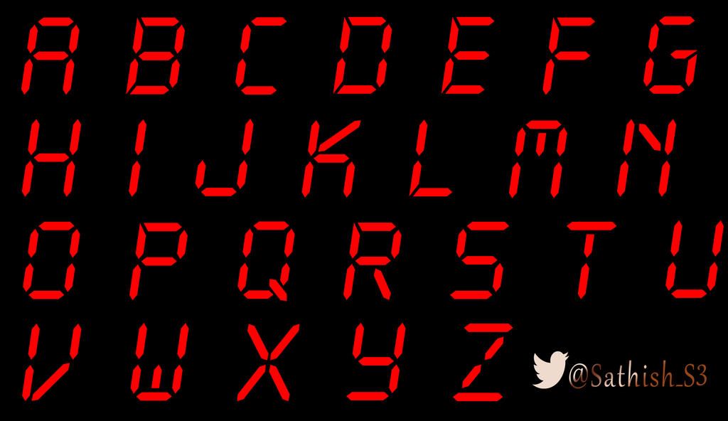 vivegam digital font by Sathish3Designs on DeviantArt