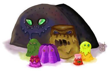 Pudding Family by Kalnaur