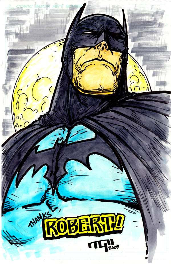 Batman Sketch by TaylorGarrity