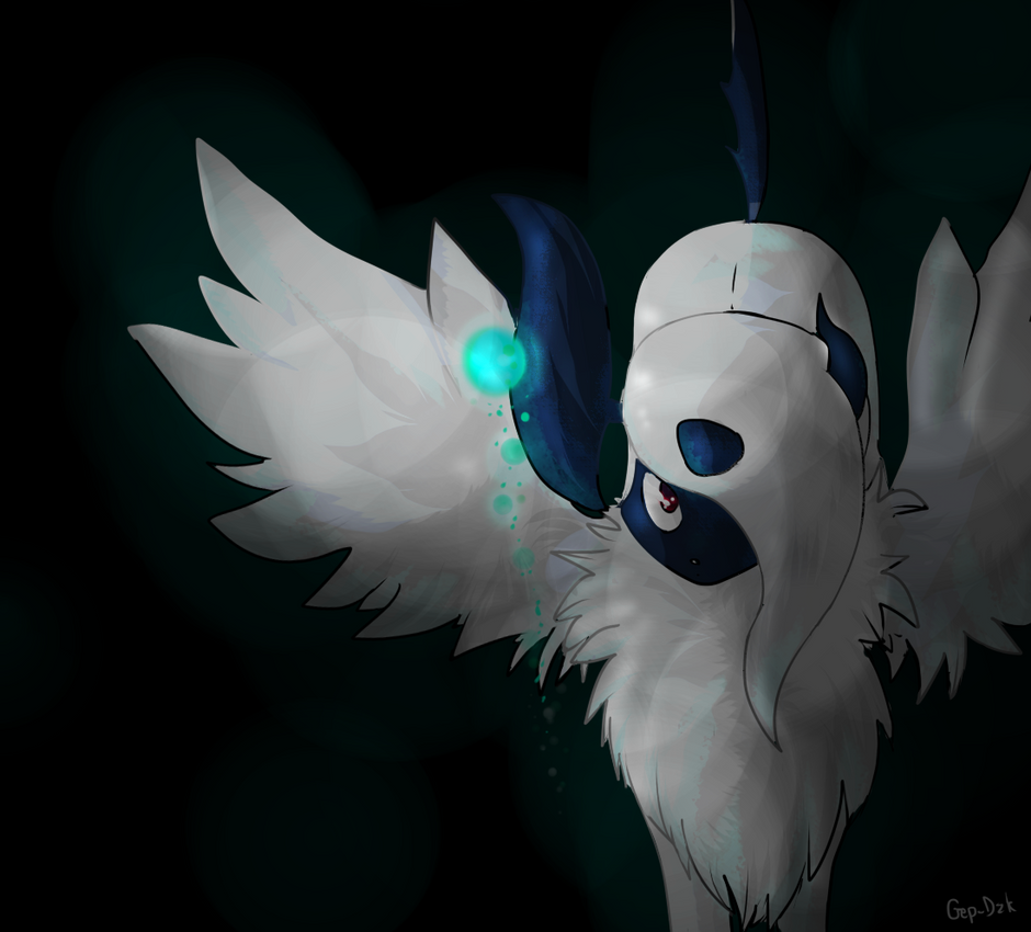 Mega Absol by DazkDusk on DeviantArt