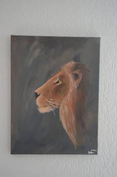 Lion-acrylique