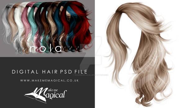 Nola Hi Res Instant Hair STOCK PSD x 10 colours