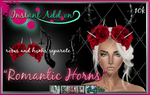 Gothic Painted Romantic Horns Stock PSD
