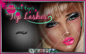 Top Eye Lashes PNG - painted eyelash png file by MakeMeMagical