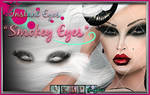 Smokey Eyes PSD - painted smokey eyelashes stock