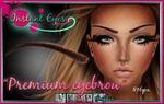 Hand painted digital overlay Premium Eyebrow PSD