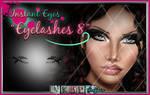 Painted photoshop digital overlay Eyelashes 8 PSD