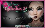Painted digital overlay Eyelashes 2 PSD stock