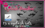 Eyelash Brush ABR Photoshop Brush set eye lashes