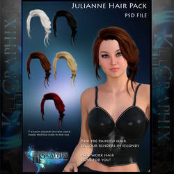 Julianne Painted Insatnt Hair PSD Stock add on by MakeMeMagical