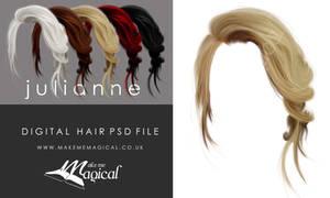Julianne Painted Insatnt Hair PSD Stock add on
