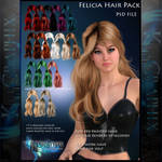Felicia Painted Instant Hair PSD add on hair stock