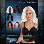 Beyonce Painted Hair Instant Hair PSD hair stock