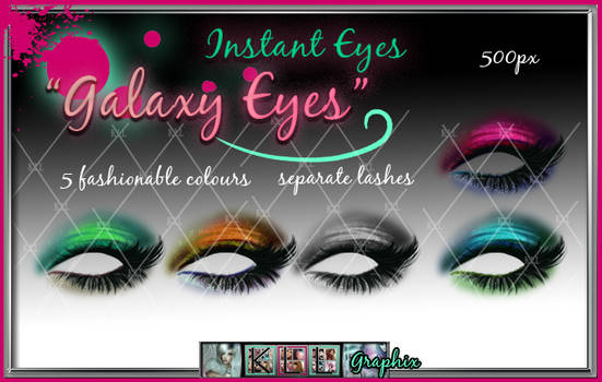 Galaxy Eyes - painted eyeshadow and eyelash psd