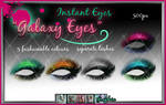 Galaxy Eyes - painted eyeshadow and eyelash psd