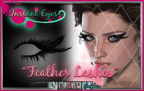 Feather Lashes - painted eyelash psd photoshop