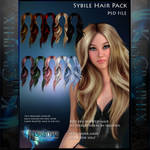 Sybille Painted Instant Hair PSD add on hair stock