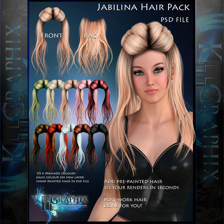 Hair Psd Free Download: Jabilina Painted Instant Hair PSD Add On Stock By