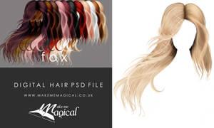 Painted Instant Hair PSD Fox add on hair stock