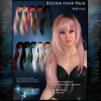 Evcinia Painted Instant Hair PSD add on hair stock by MakeMeMagical