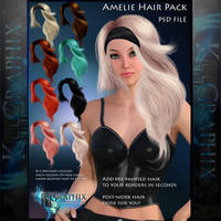 Amelie - Painted Instant PSD Hair stock - add on by MakeMeMagical