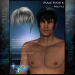 Male Hair 6 Painted Instant hair PNG add on stock