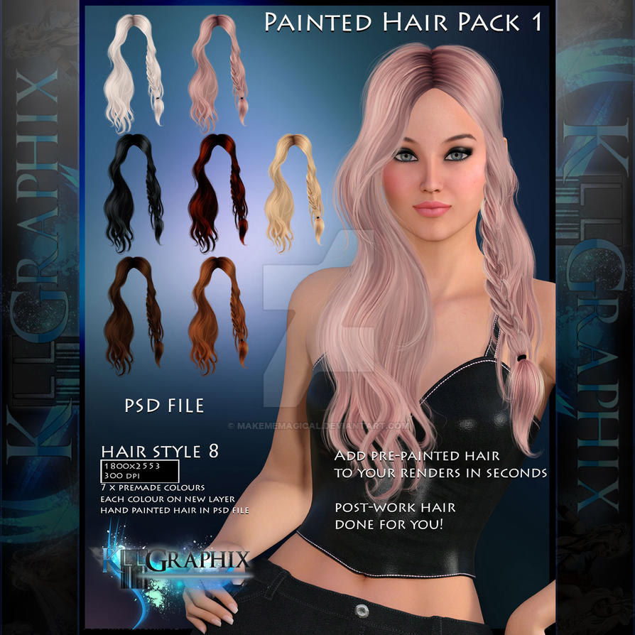 Hair Psd Free Download: Instant Hair PSD Stock - Liliana