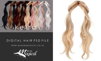 Instant Hair PSD Stock Keira Painted digital hair