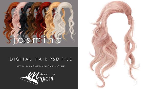 Instant Hair PSD Stock - Jasmine | Hair overlay