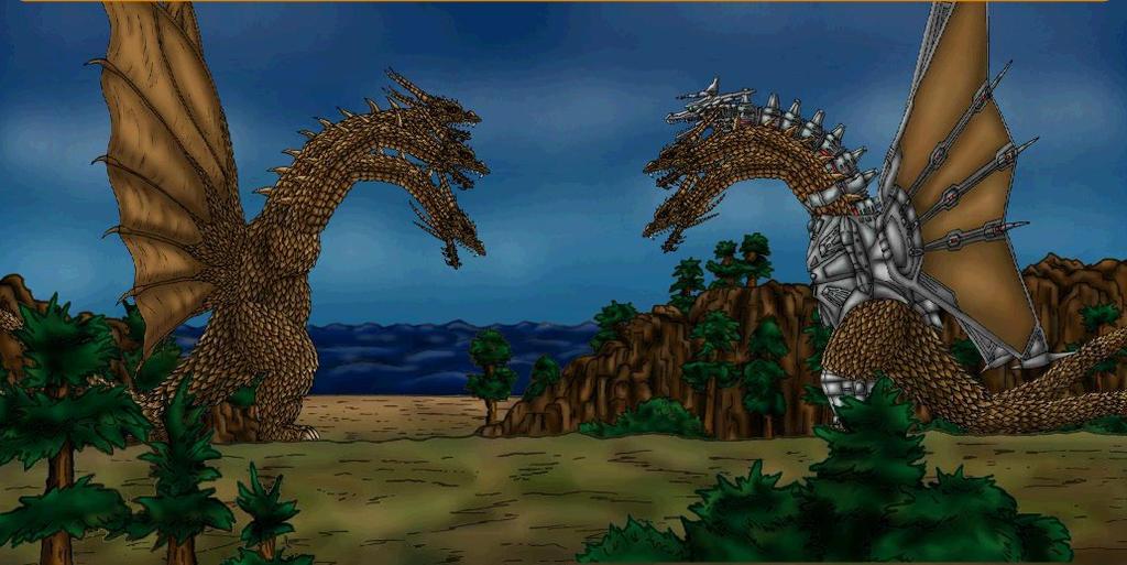 Godzilla Vs Mecha King Ghidorah King Ghidorah 1991 vs ...