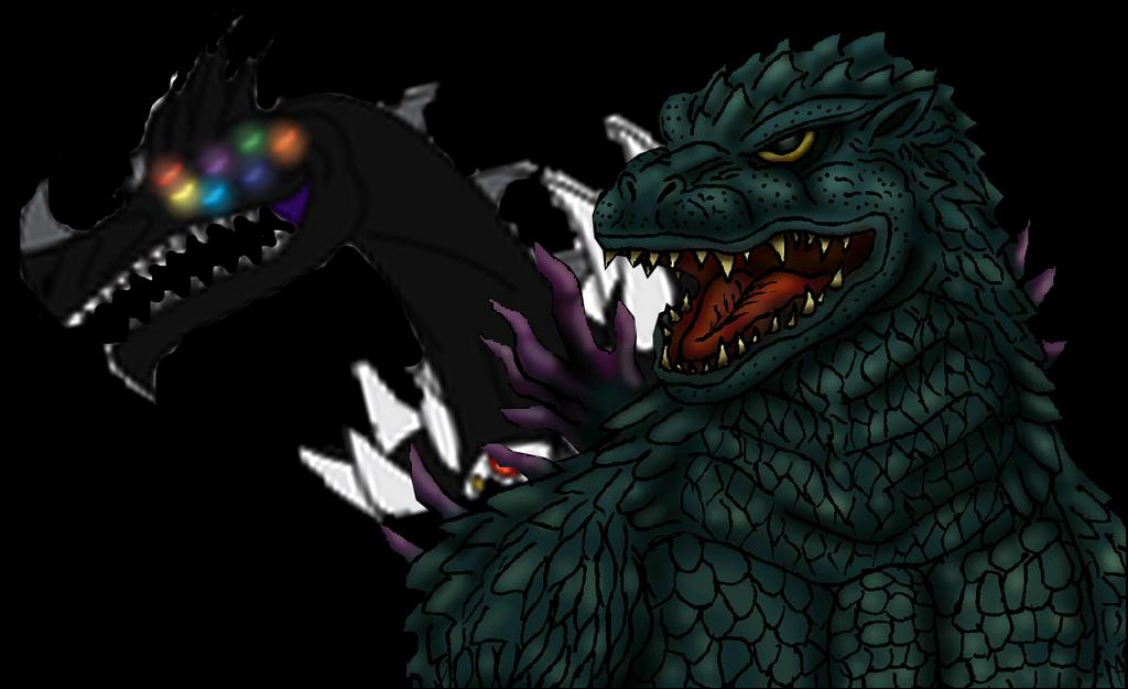 Godzilla 2000 vs Nectrotherium by MrJLM18