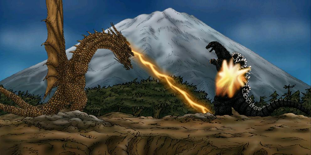 King Ghidorah 2014 Godzilla vs king ghidorah 1991