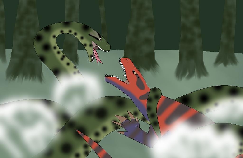 Titanoboa vs Megalania by MrJLM18