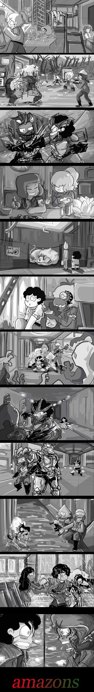 kamen rider amazons X su crossover episode sketch by BEN237