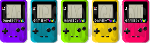 Pixel Game Boy Colors by Tassos13