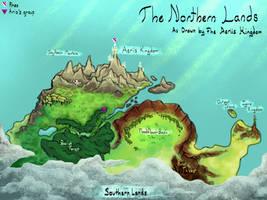 Northern Crescera Map :Kingdoms: (kinda old)