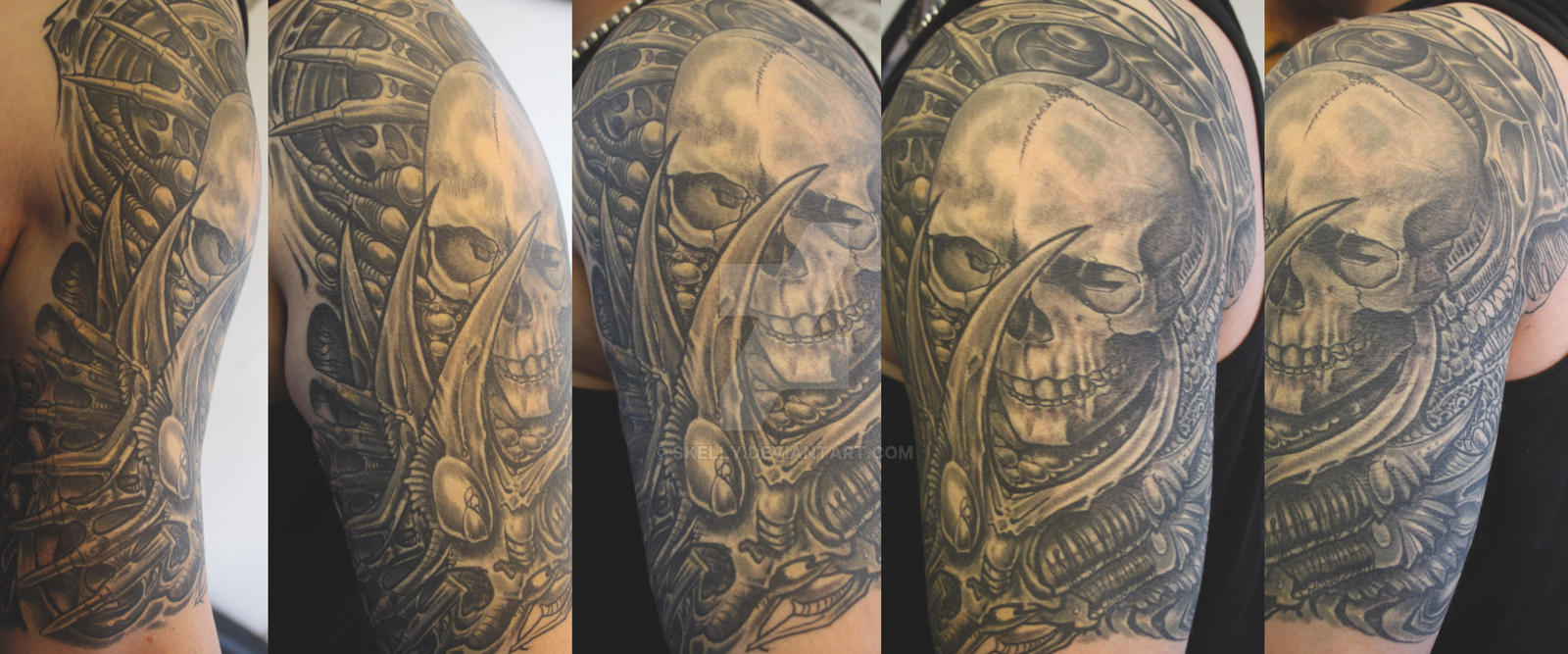 freehand skull thing by skelly