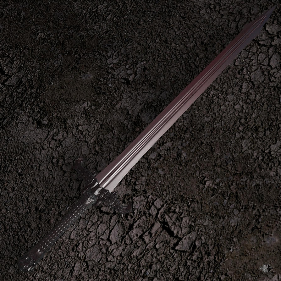 Medieval Falchion Sword Two-Handed Sword 1000x...