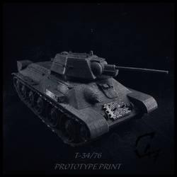 T-34/76 - prototype 3d print