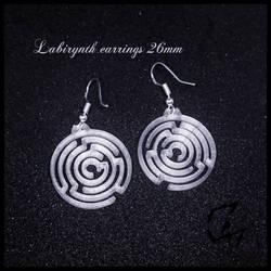 Labirynth earrings - 3d print