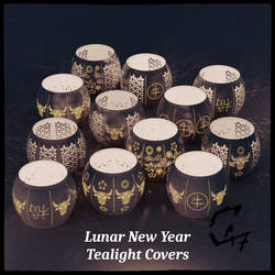 Lunar New Year Tealight Covers