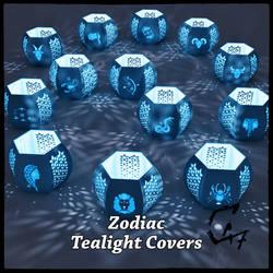 Zodiacs Tealight covers