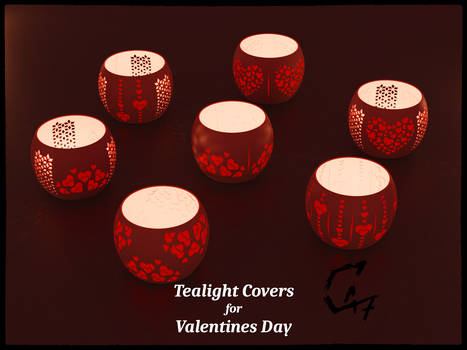 Tealight Covers for Valentines Day