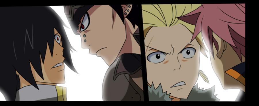 Rogue vs Gajeel and Sting vs Natsu - FT Manga 294 by ...