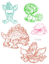 My Singing Monsters Sketches by xiao668