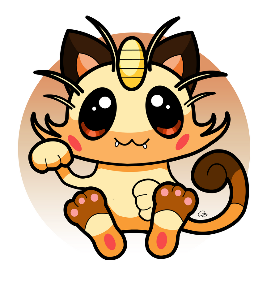 Meowth Chibi by heeycah