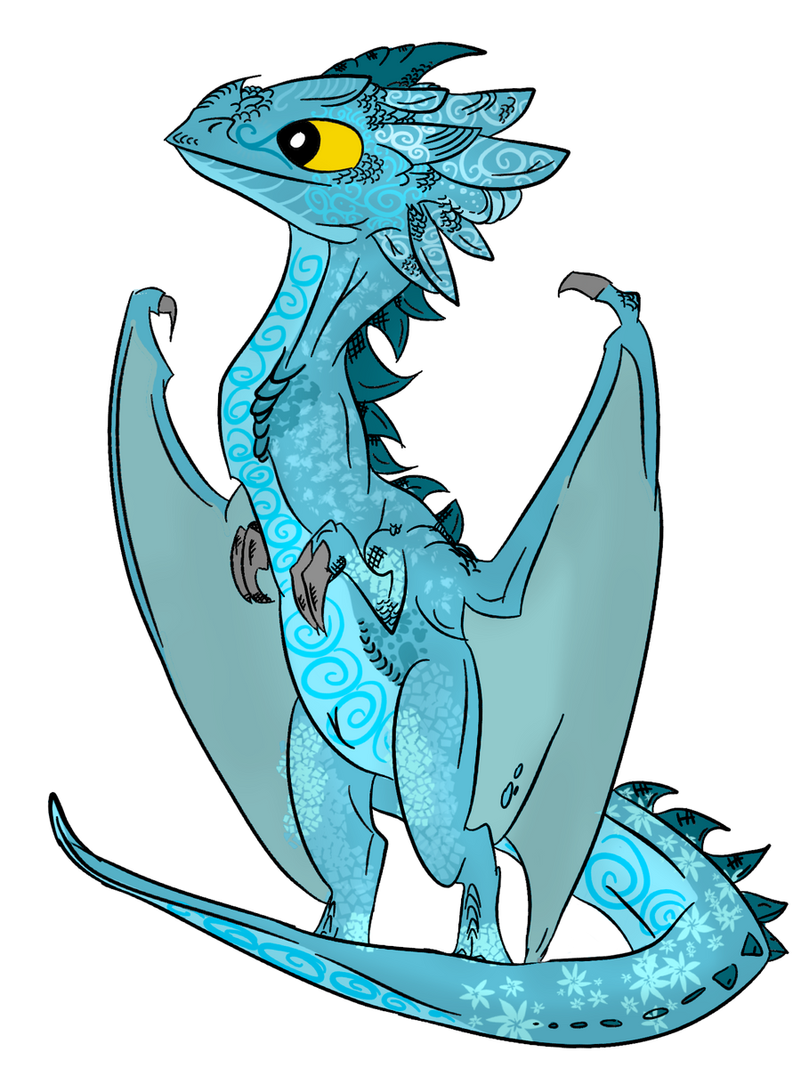 Blue Dragonling by ToxicKittyCat